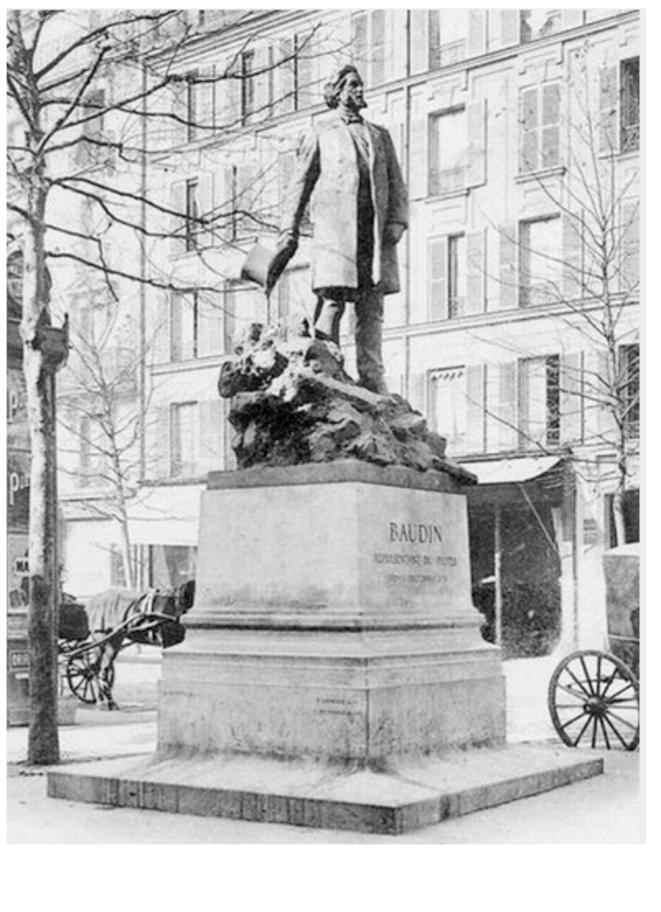 La statue de Baudin détruite par Vichy