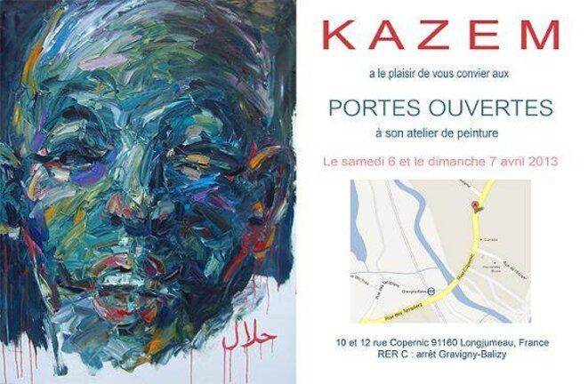 Portes Ouvertes à Latelier De Lartiste Peintre Kazem