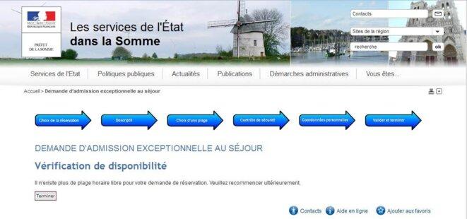 Ni rendez-vous, ni information: c'est souvent la porte close pour ceux qui cherchent un visa. © Capture d'écran du site web de la Préfecture