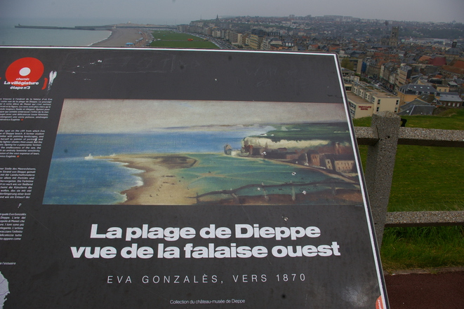 Copie du tableau d'Eva Gonzales posée sur son sujet © Marco Pol Avallon