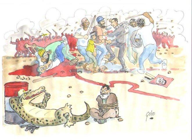 L'Armée se nourrit du sang de la population © GOLO