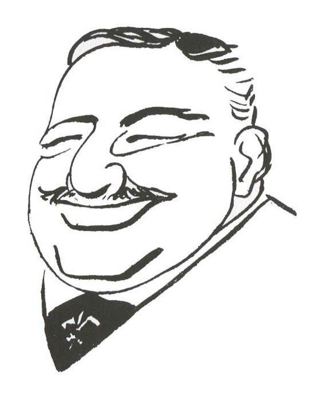 Caricature de Léon Daudet (1867-1942)