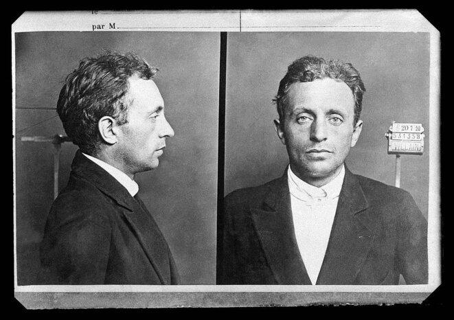 Raoul Villain, né en 1885, après son meurtre du 31 juillet 1914