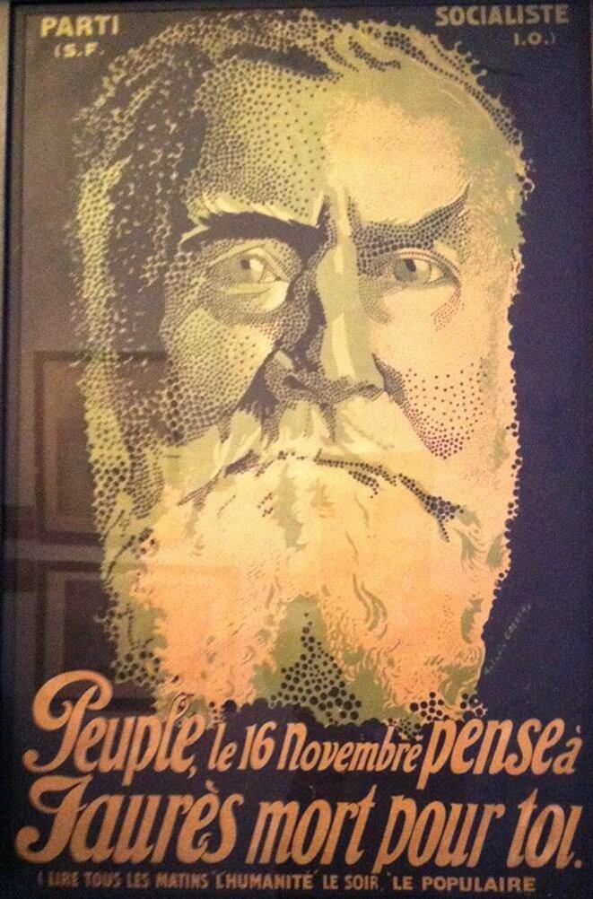 """Affiche de la SFIO en vue des élections législatives des 16 et 30 novembre 1919 qui verront la victoire du """"Bloc national"""""""