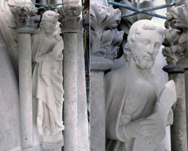 Prophète du portail sud de la cathédrale de Reims © Nicolas Bulloz