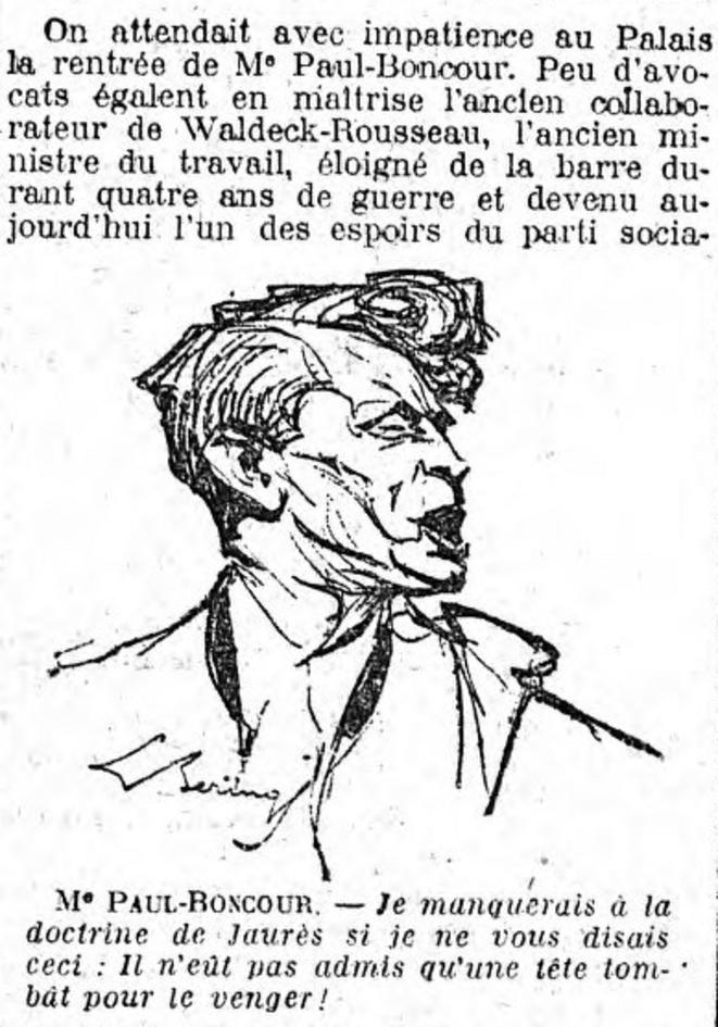 """Croquis d'audience publié dans """"Le Matin"""""""