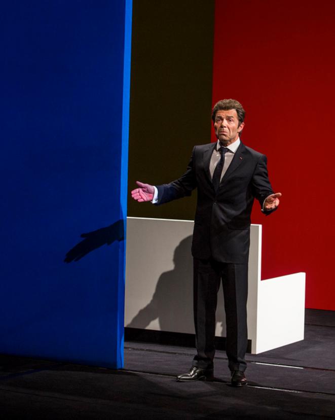 Gaston Richard dans le rôle de Nicolas Sarkozy © Michel Cavalca