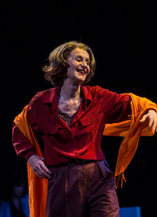 Francine Bergé dans le rôle de Liliane Bettencourt © Michel Cavalca