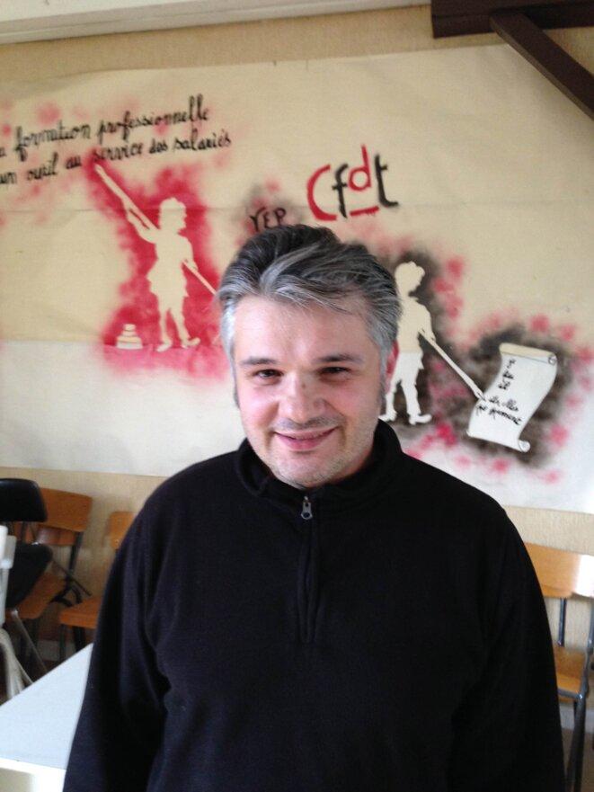 Jean-Claude Parot, secrétaire général de l'union départementale de Haute-Vienne de la CFDT.