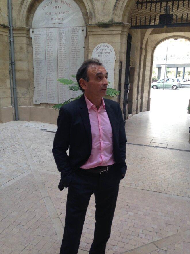 Éric Zemmour, mairie de Béziers, 16 octobre 2014