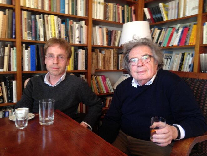 Miklós et György Konrád, Budapest, avril 2015 (© A.P.)