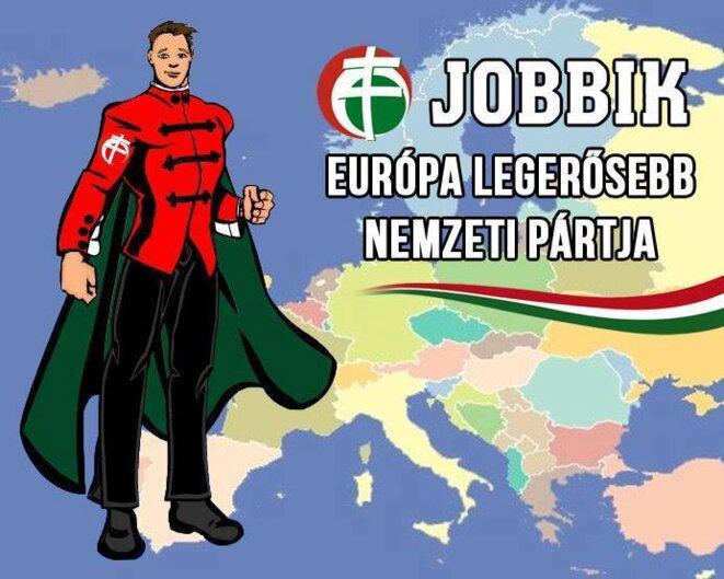 Affiche électorale du Jobbik, parti fascisant hongrois...