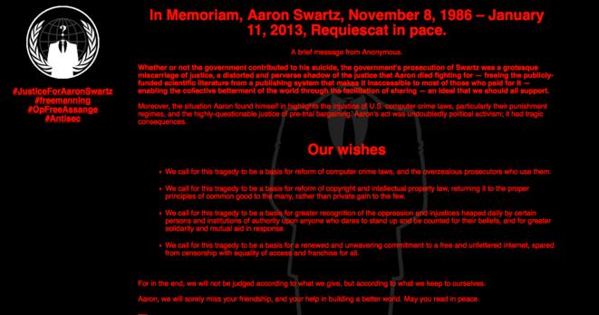Le site du MIT piraté par les Anonymous