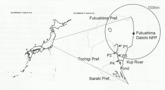Localisation des points de relevés © Université de Toho