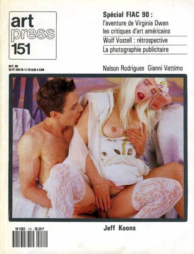 Jeff Koons avec la Ciccilolina, déjà en couverture d'art press, en 1990