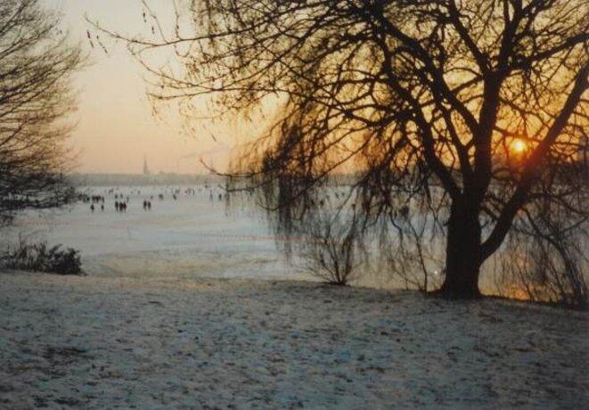 Alster gelée 1996 - Soleil couchant