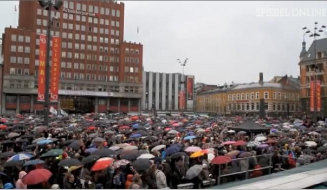 Oslo chante contre la haine © Spiegel