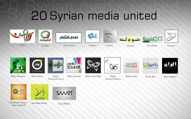 Les médias syriens participant à la campagne