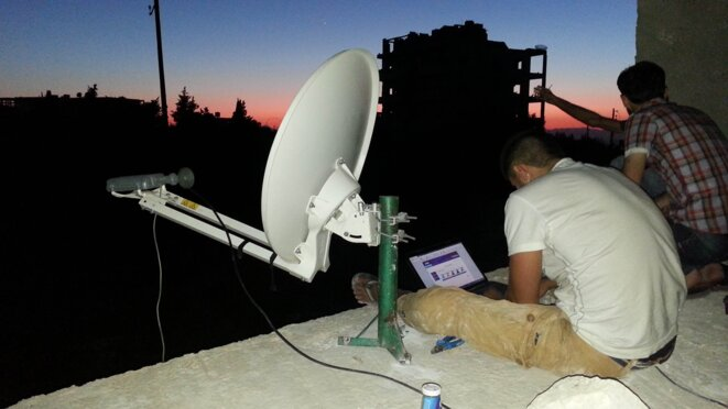 Night broadcast in Syria