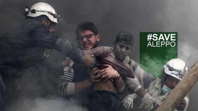 Protection civile et équipes de secours à Alep