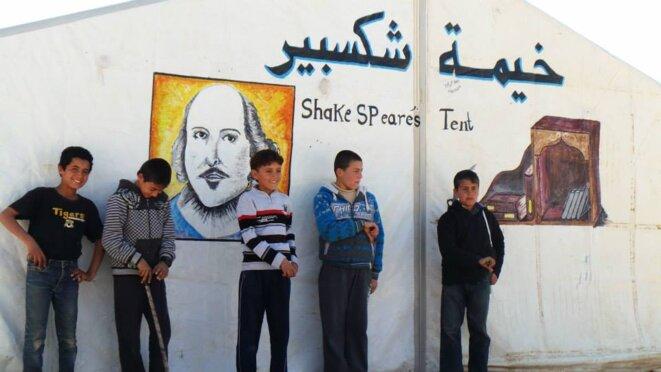La tente Shakespeare au camp Zaatari en Jordanie