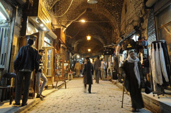 Les souks de Alep avant la guerre