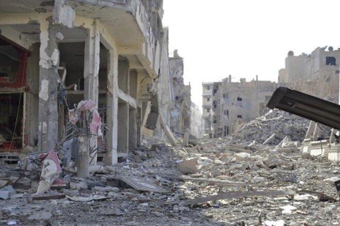 Les ruines de l'Eglise de la Vierge Marie © Al-Jisr