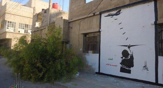 Le plus grand graffiti de Syrie sur un mur de Yalda - photo partagée sur la page Facebook de l'artiste