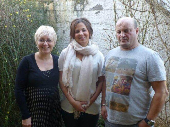 Alexandra Belhadj et ses parents.