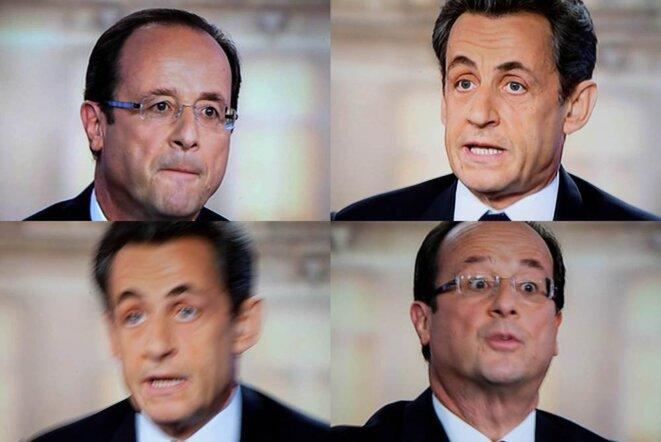 Images extraites du débat télévisé du 2 mai