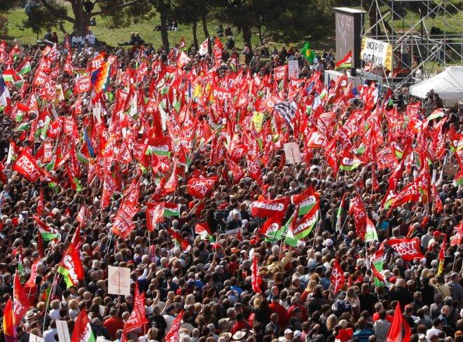 A Marseille, meeting de Mélenchon du 14 avril 2012 © Reuters