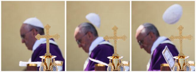Le pape à Lampedusa en juillet 2013 © Alessandro Bianchi/Reuters