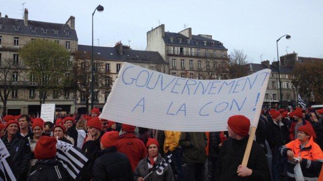 Manifestation du 2 novembre 2013 à Quimper © S.A.