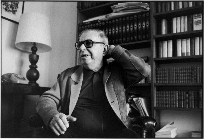 Jean-Paul Sartre, 12 juin 1978 à Paris. © Alécio de Andrade