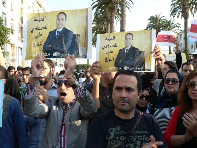 Manifestation à Rabat en faveur de journaliste Anouzla