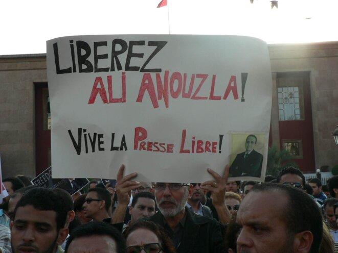 Manifestation en faveur de journaliste Anouzla à Rabat