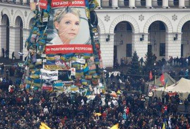 En attendant Ioulia Timochenko sur le Maïdan, à Kiev