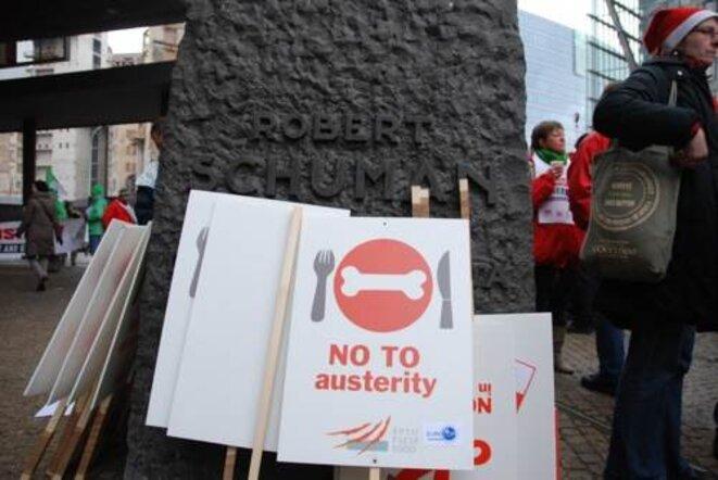 Manifestation le 15/12 à Bruxelles © Geoffrey Leguilcher