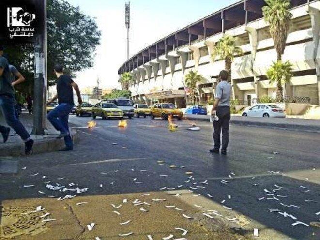 A Damas, photo envoyée le 6 août 2012