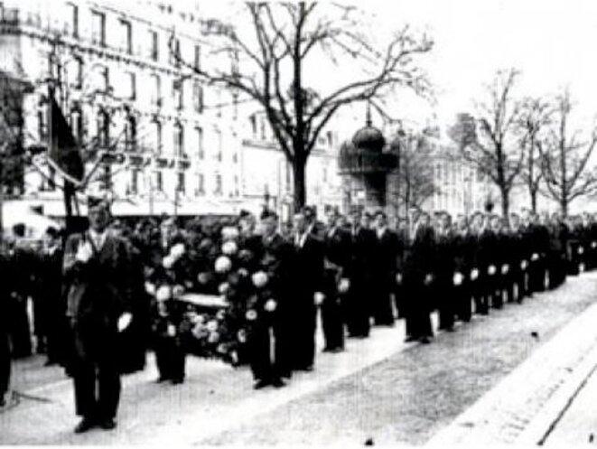 Cette photographie est la seule connue de cette manifestation. Elle a été retrouvée en 1996 par Henri Nicolo. © DR