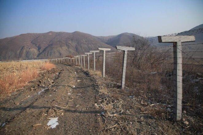Sur la frontière entre la Chine et la Corée du Nord © Jordan Pouille