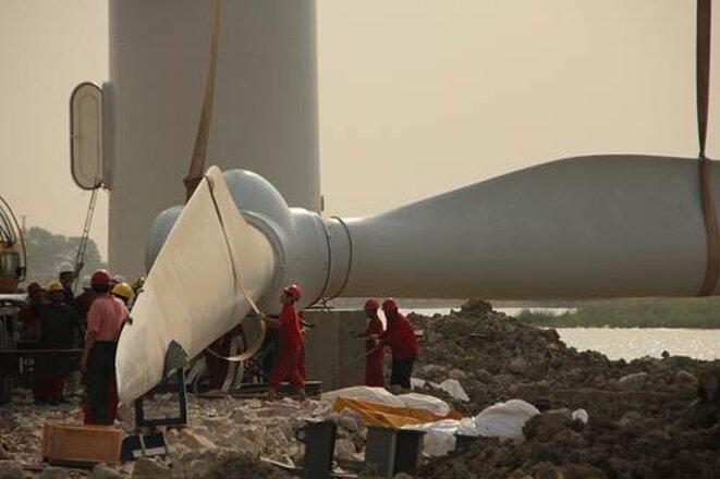 Installation d'une éolienne à Tianjin