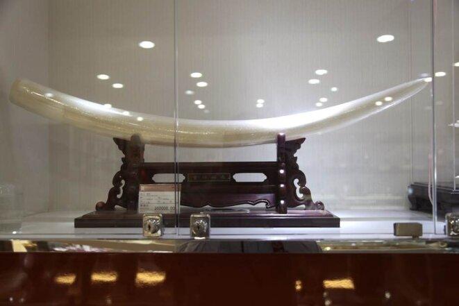 A l'Emporium, magasin accrédité d'ivoire gravé à Pékin