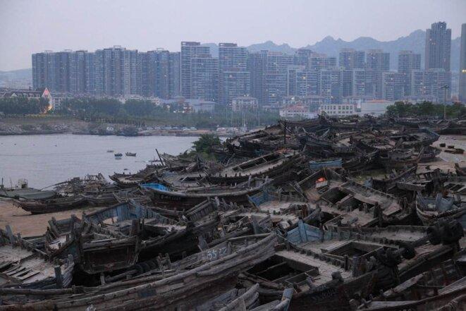 Le cimétière des barques de pêche