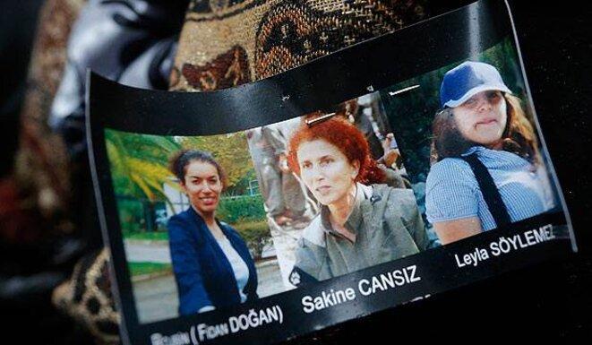 Les portraits de Fidan Dorgan, Sakine Cansiz et Leila Soylemez.