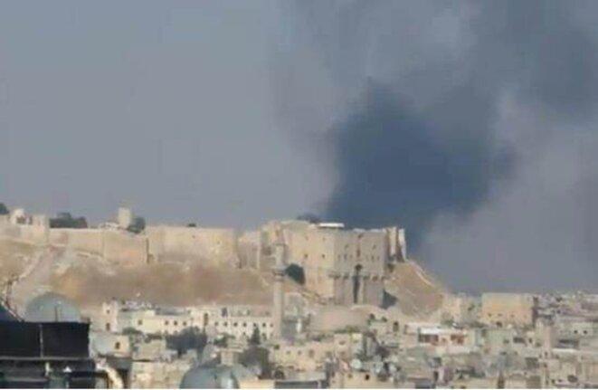 La citadelle d'Alep, le 6 août 2012