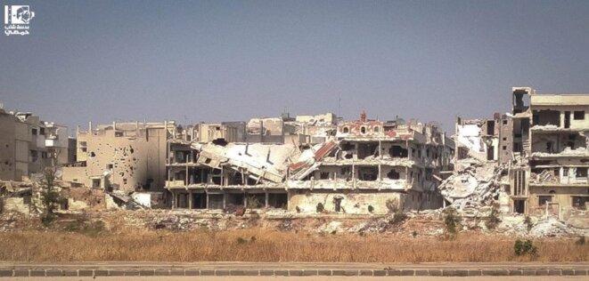 A Homs. Photo envoyée le 6 août 2012