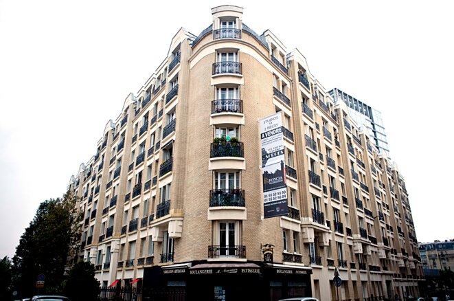 L'immeuble de la rue De Serres © Aurélien Pic