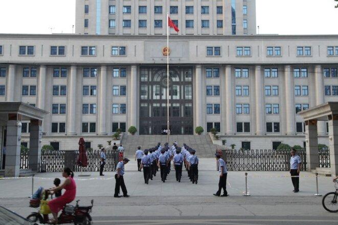 Lribunal populaire de Jinan où se tient le procès de Bo Xilai