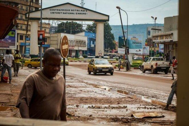 Le centre-ville de Bangui © Thomas Cantaloube